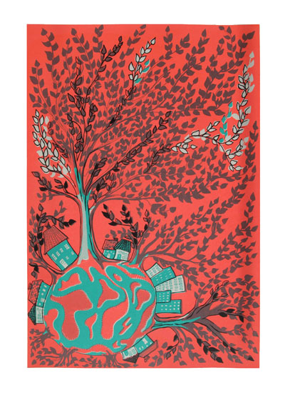 tree world red green - mitteditt