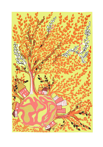 tree world red yellow - mitteditt